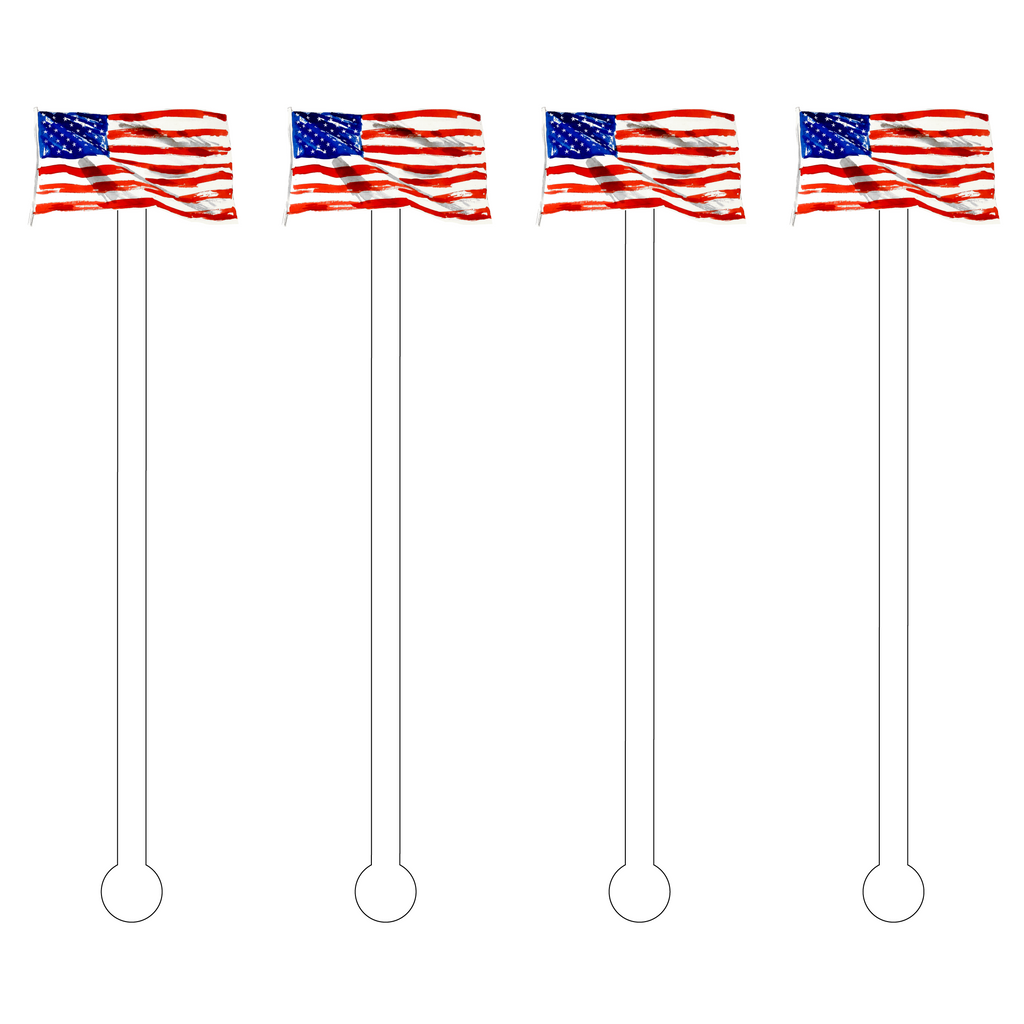 OLD GLORY ACRYLIC STIR STICKS