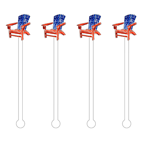 PATRIOTIC HOT DOG ACRYLIC STIR STICKS