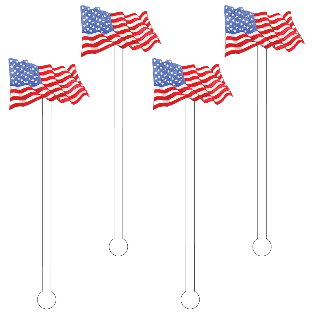AMERICAN FLAG ACRYLIC STIR STICKS