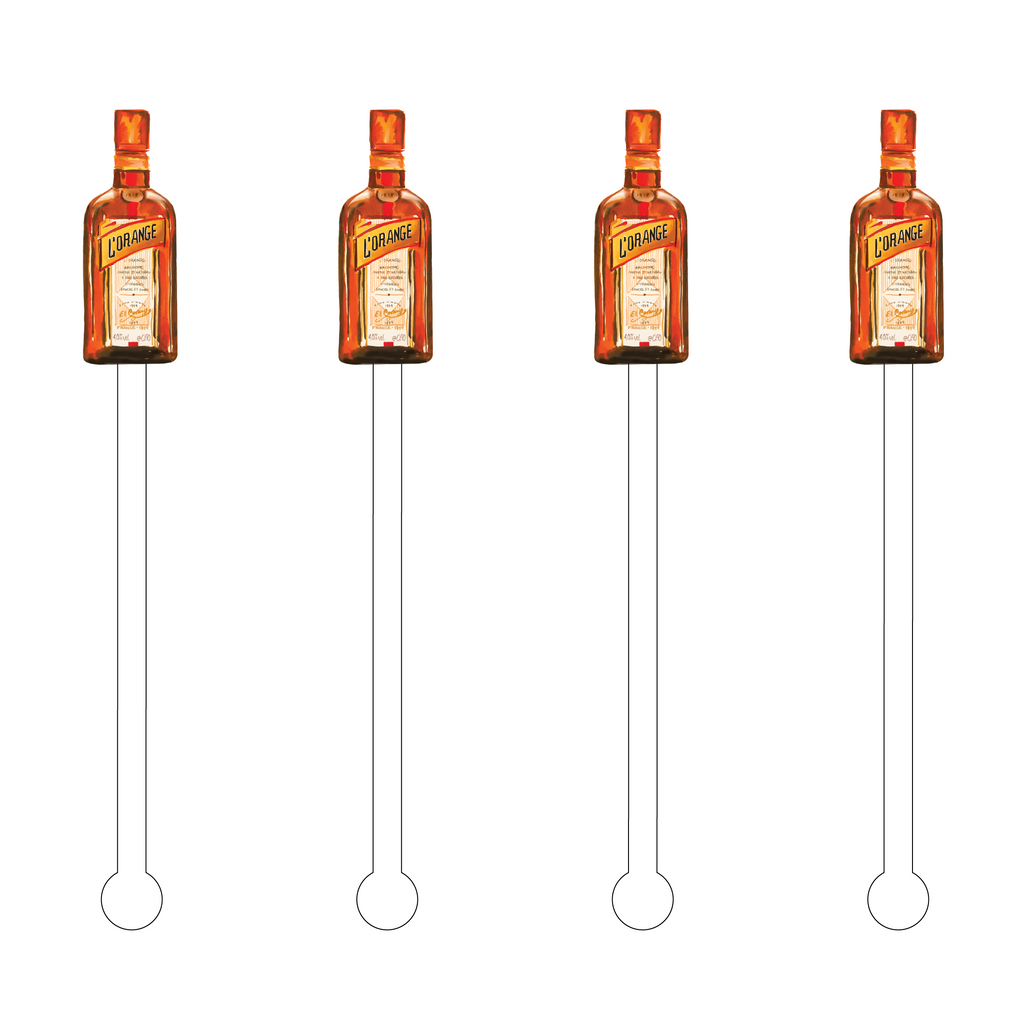 TRIPLE SEC ACRYLIC STIR STICKS