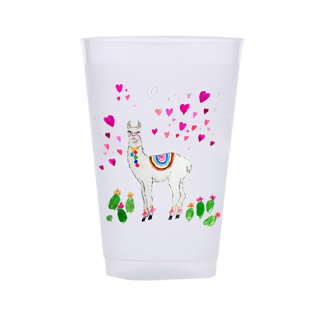 ALL LOVE LLAMA SHATTERPROOF CUPS*