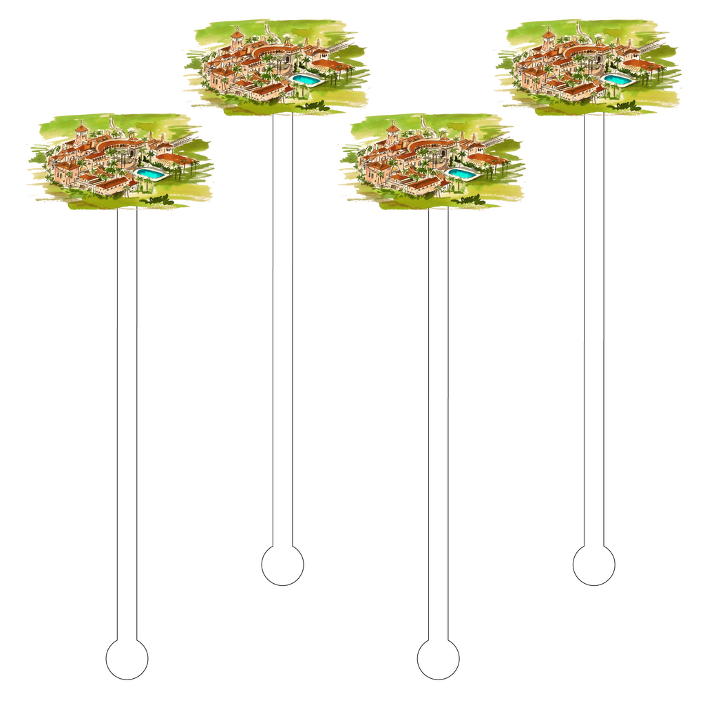MAR A LAGO RESORT ACRYLIC STIR STICKS