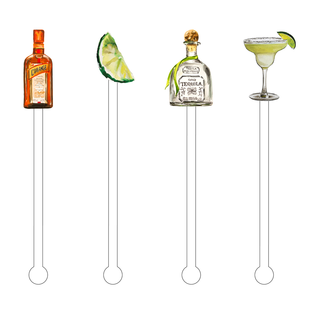 MAKE ME A MARGARITA ACRYLIC STIR STICKS COMBO