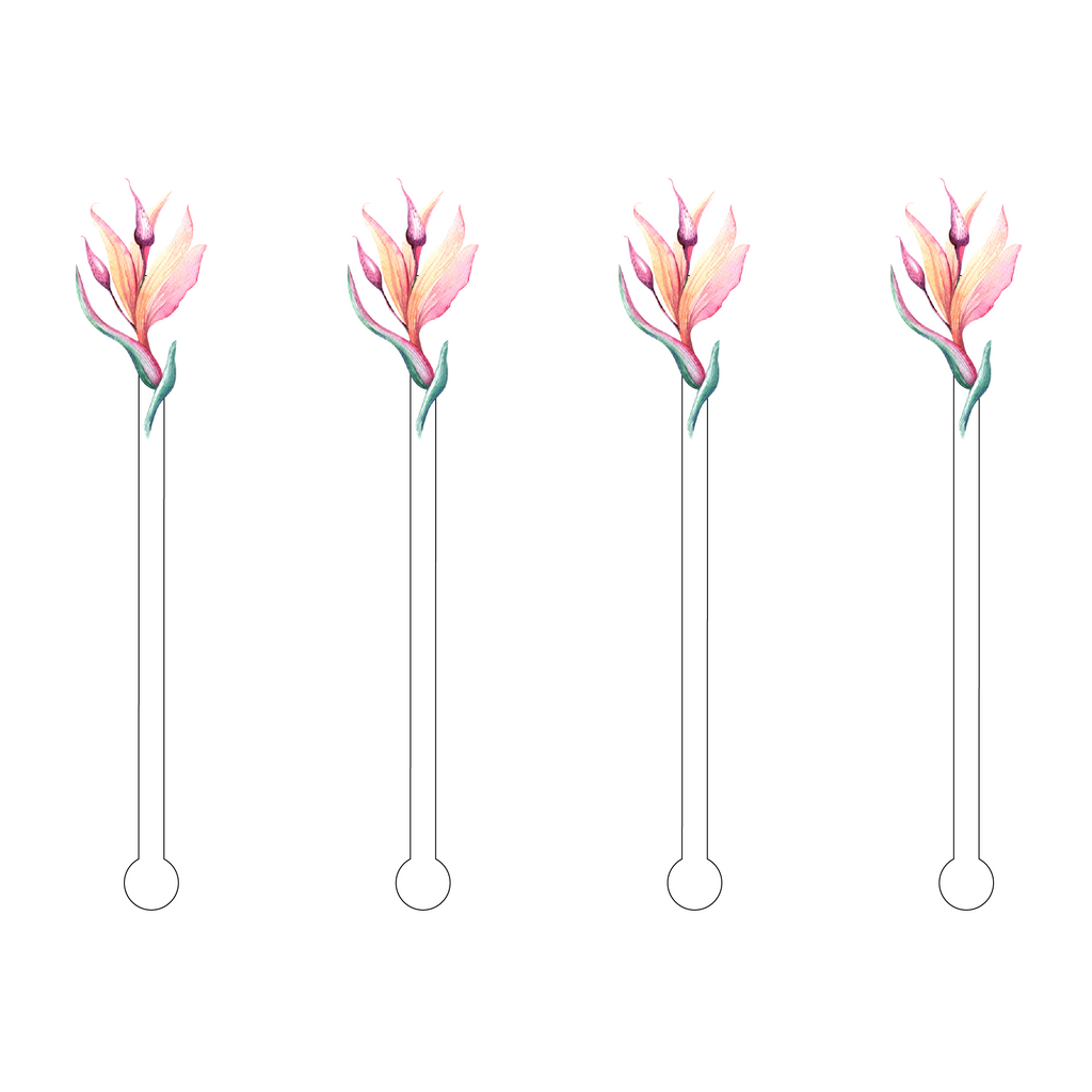 BIRDS OF PARADISE MINIKINS ACRYLIC STIR STICKS