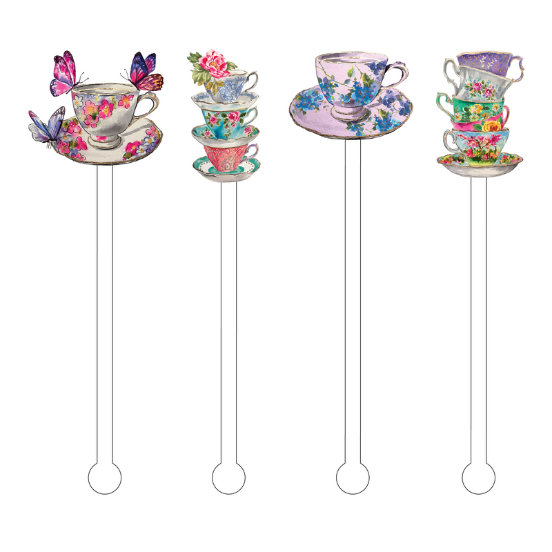 TEACUPS COMBO ACRYLIC STIR STICKS