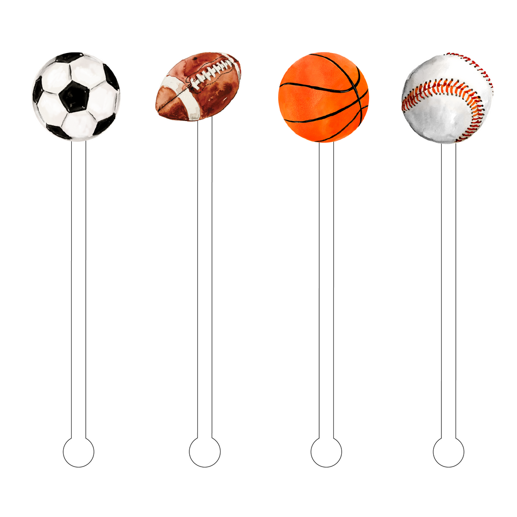 SPORTS COMBO ACRYLIC STIR STICKS