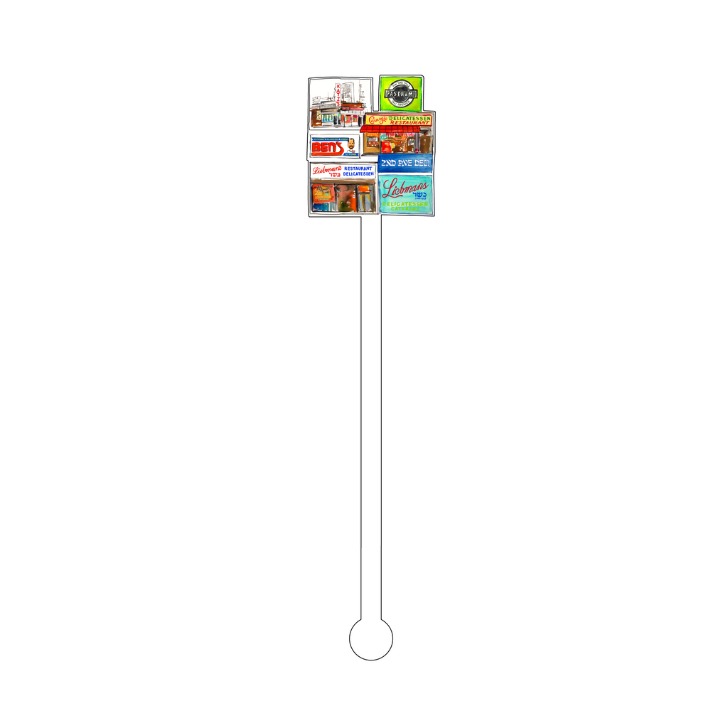 NEW YORK KOSHER DELI'S ACRYLIC STIR STICK