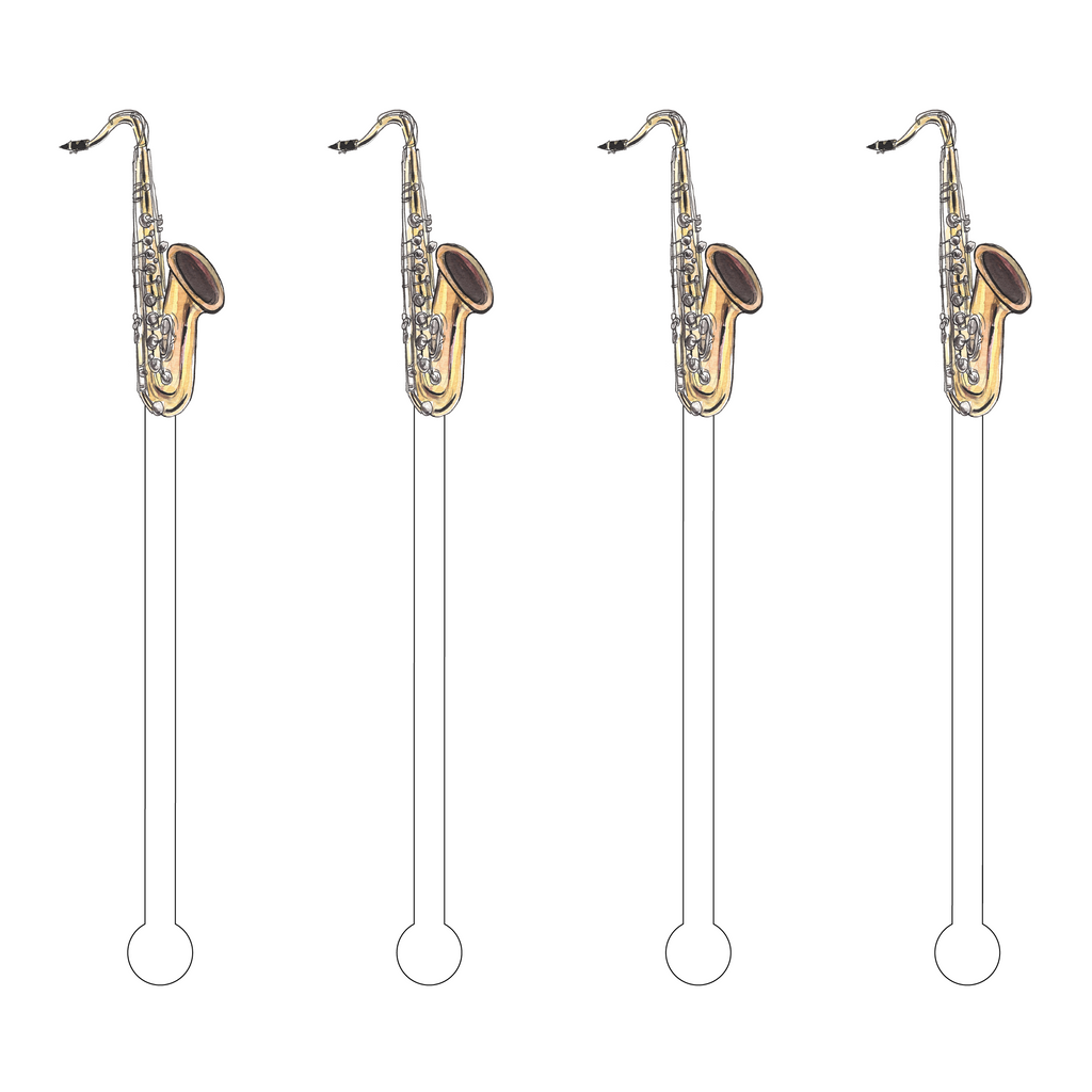 SAXAPHONE ACRYLIC STIR STICKS