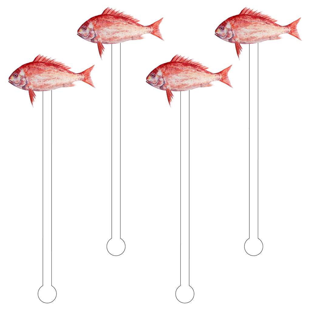 RED FISH ACRYLIC STIR STICKS