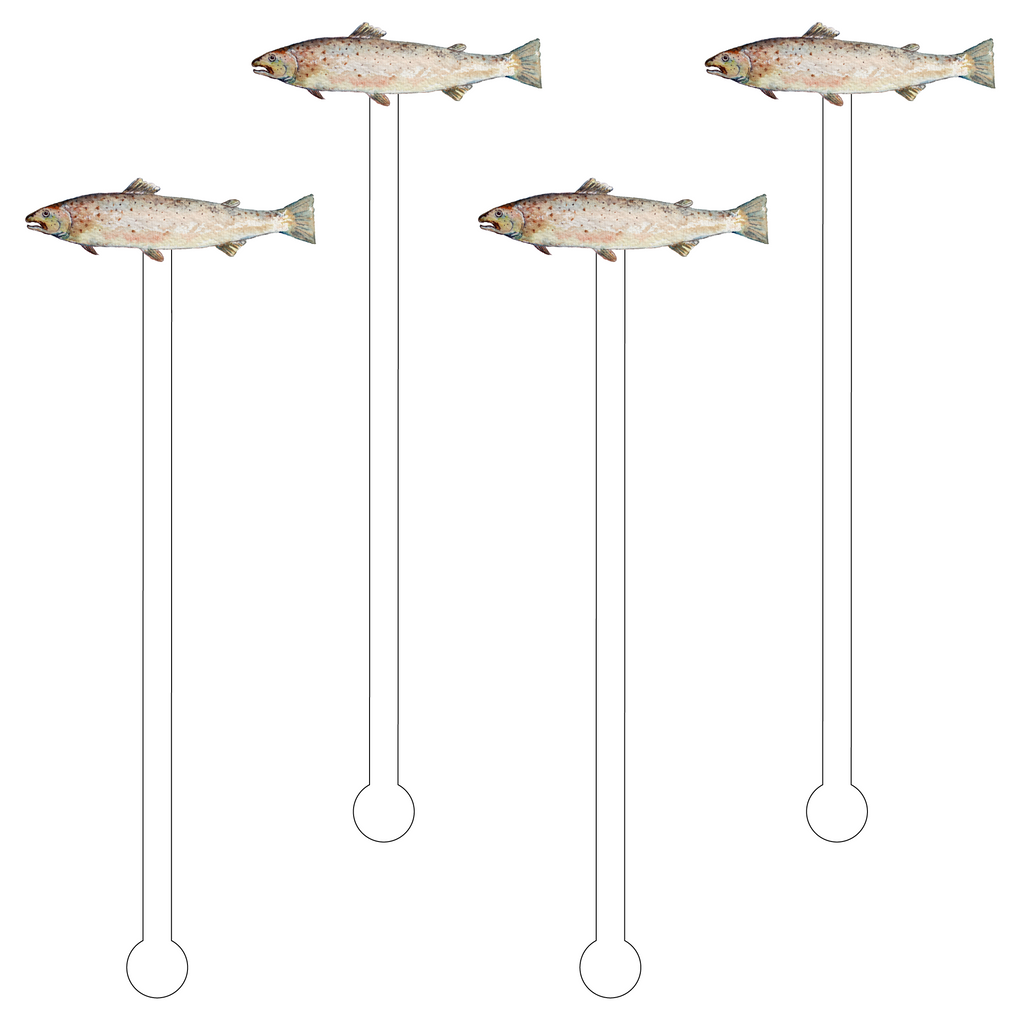NORTHERN PIKE FISH ACRYLIC STIR STICKS