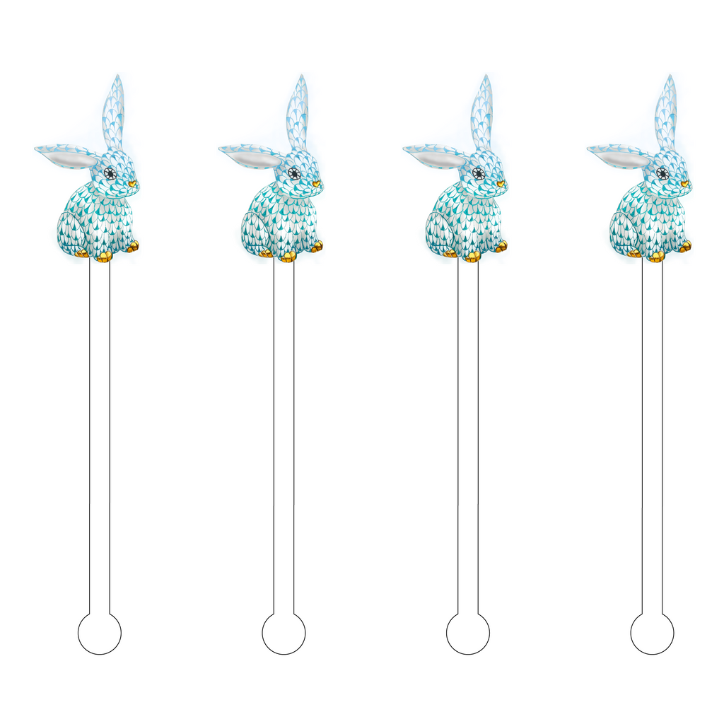 OMBRE' FLOPPY EAR HEREND BUNNY ACRYLIC STIR STICKS