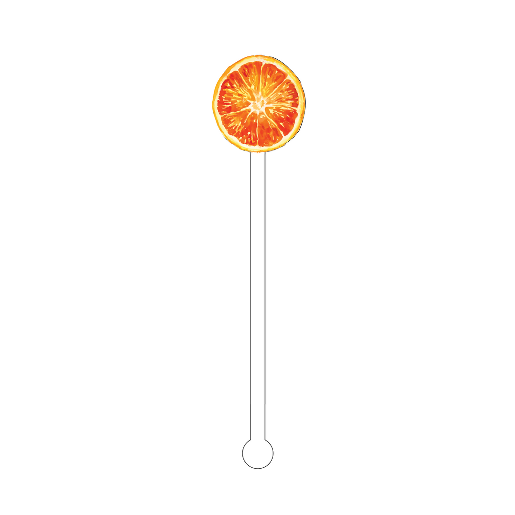 ORANGE WHEEL ACRYLIC STIR STICK