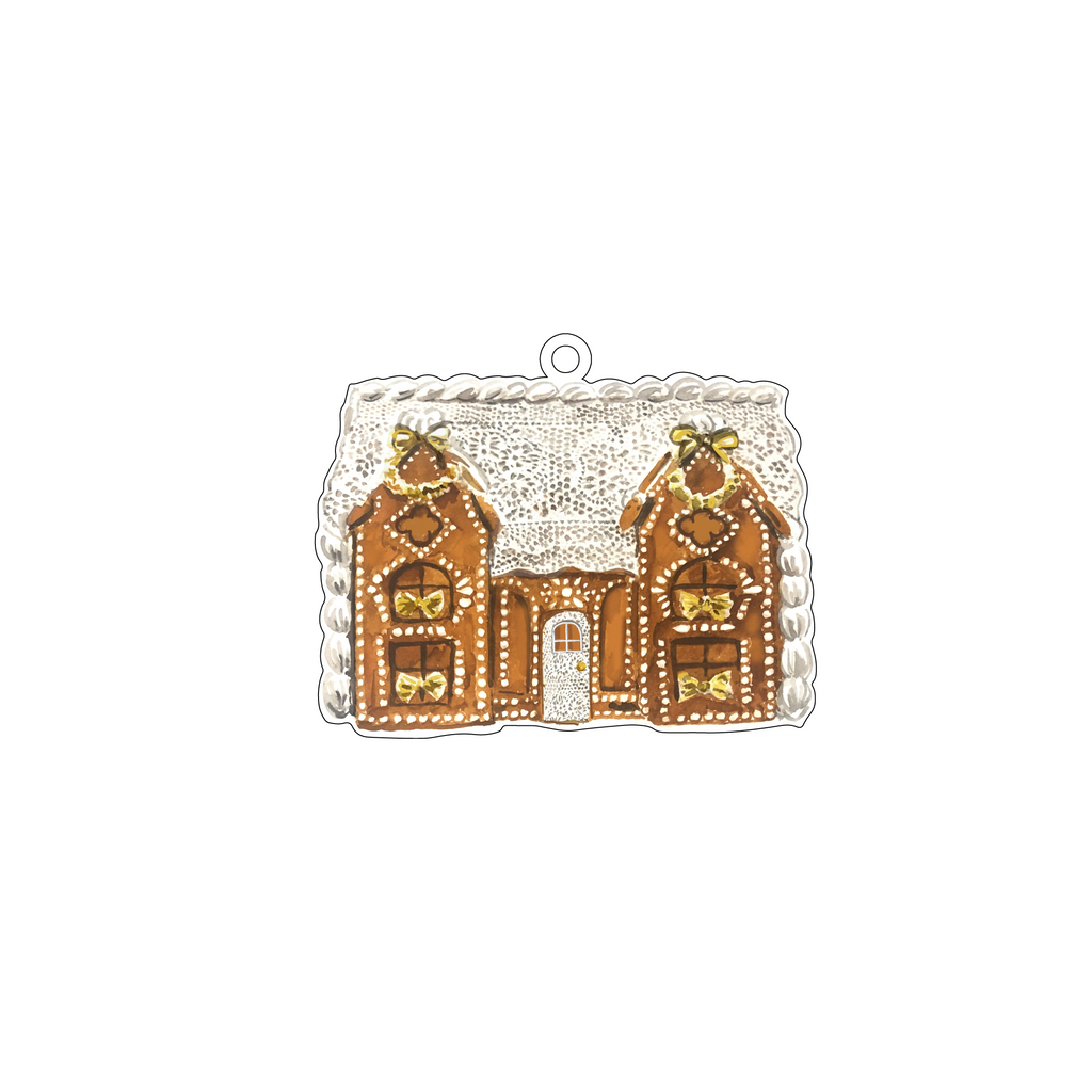 LACE GINGERBREAD HOUSE ACRYLIC ORNAMENT