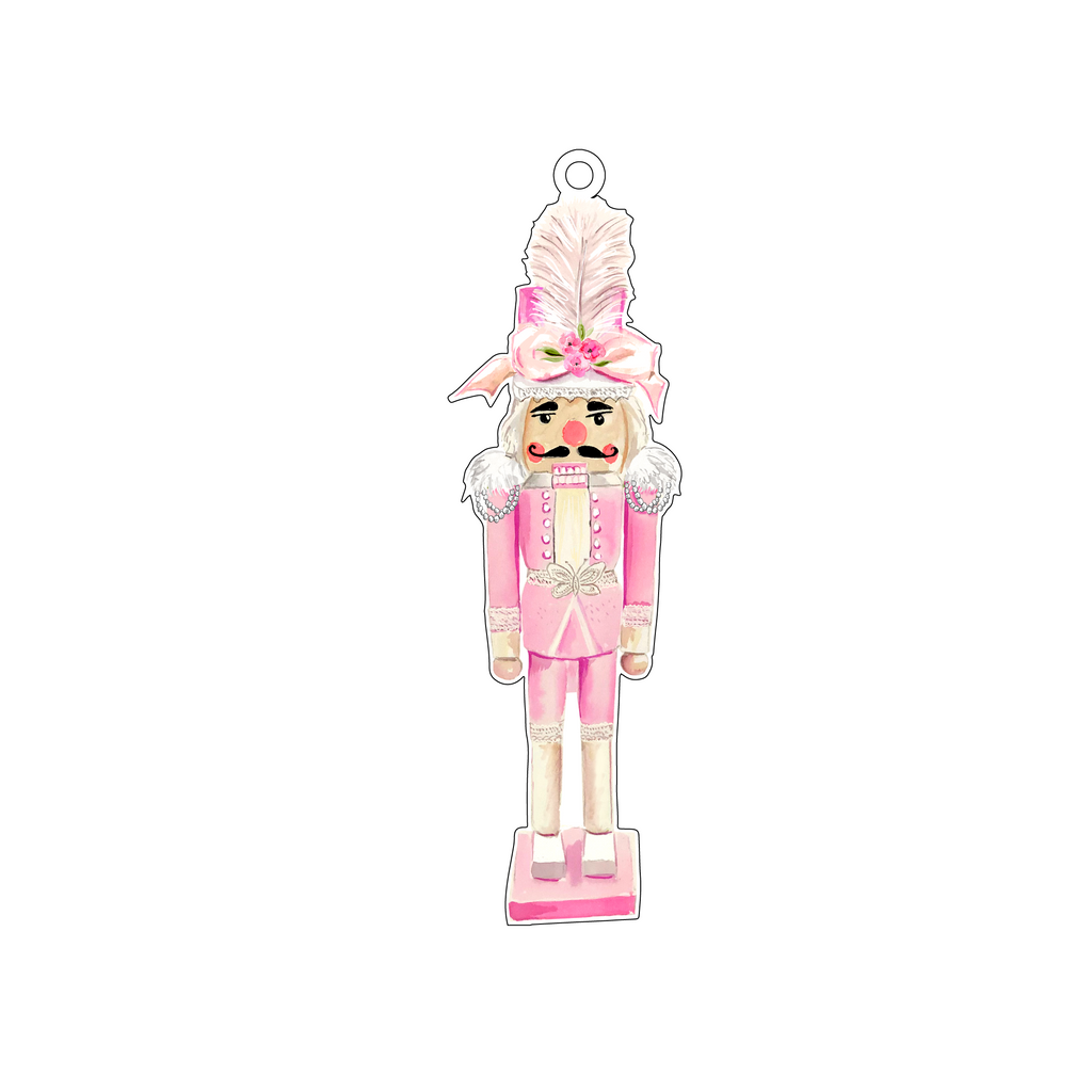 HAUTE PINK HOLIDAY NUTCRACKER ORNAMENT*