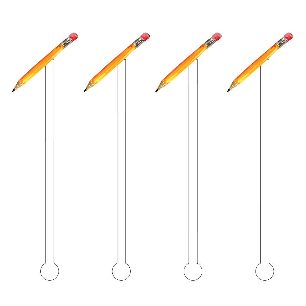 PENCIL ACRYLIC STIR STICKS