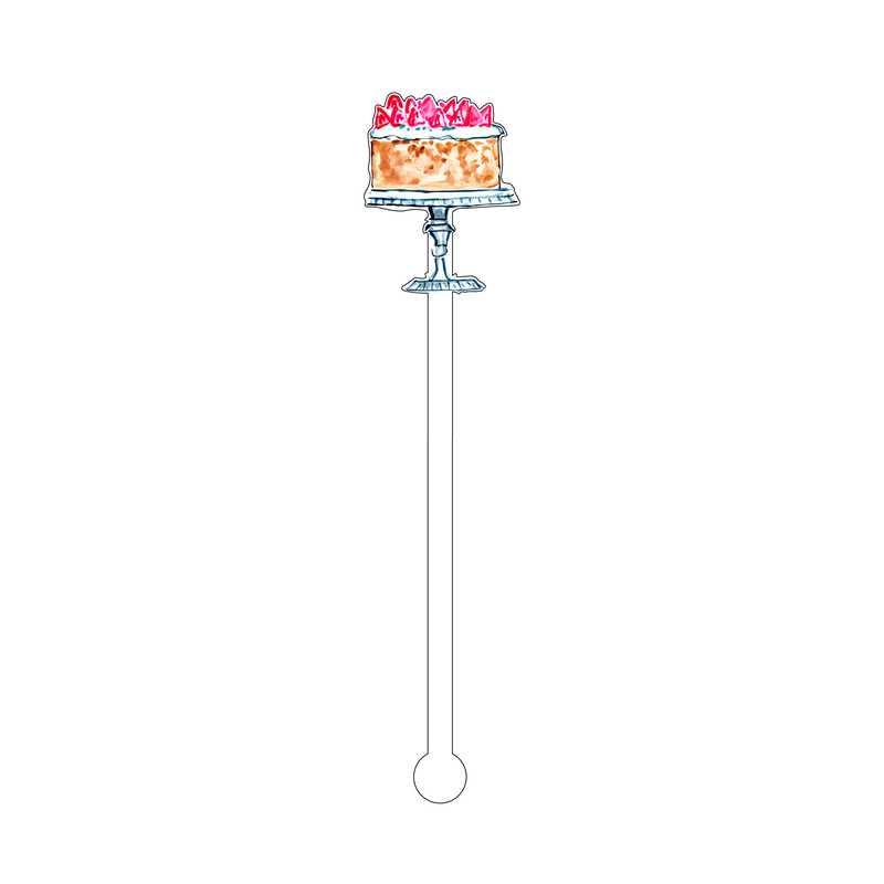 EVELYN'S STRAWBERRY SHORTCAKE ACRYLIC STIR STICK