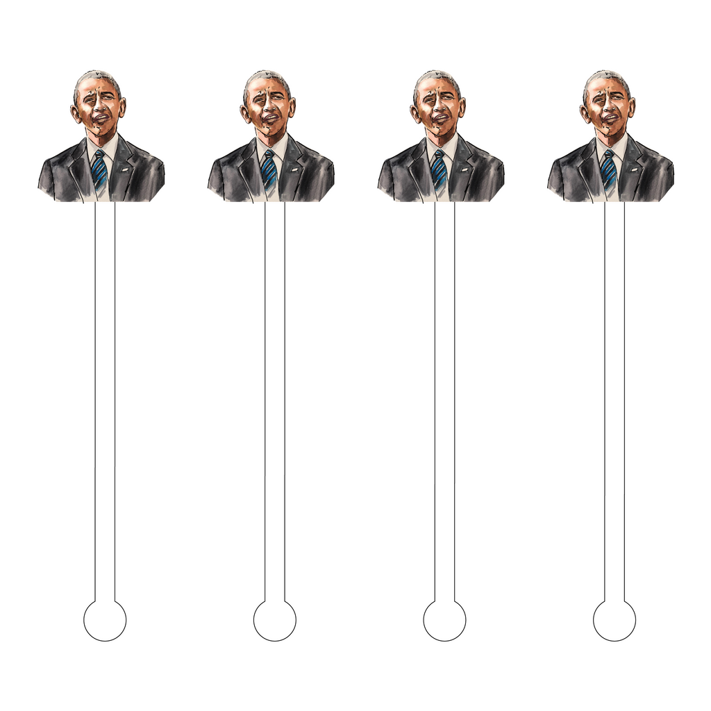 OBAMA ACRYLIC STIR STICKS