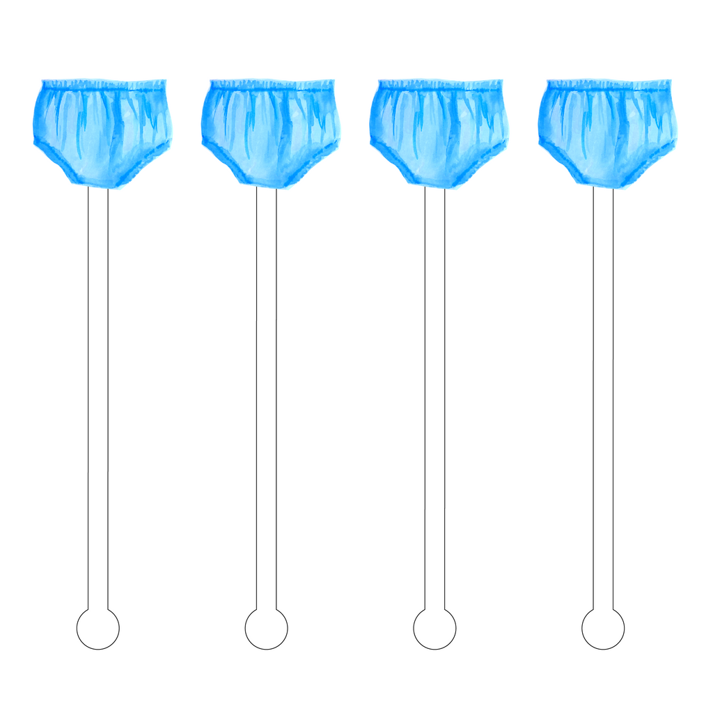 BABY BOY BLOOMERS ACRYLIC STIR STICKS