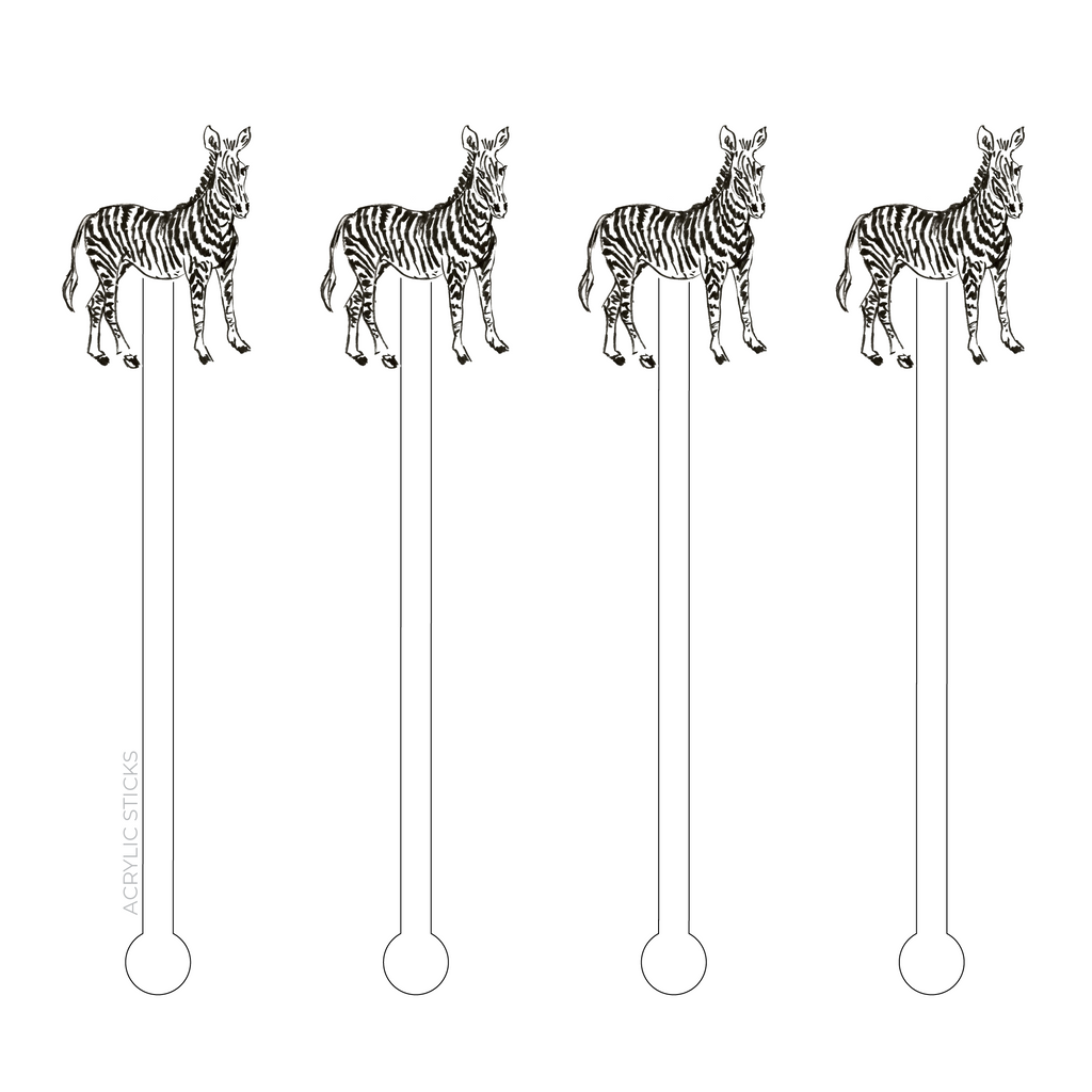 BABY ZEBRA ACRYLIC STIR STICKS