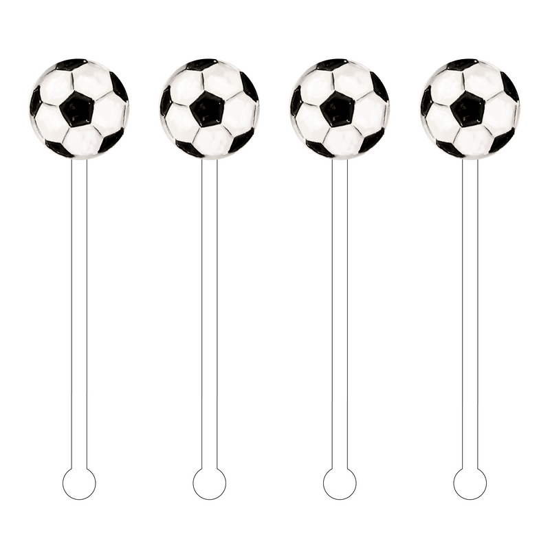 SOCCER BALL ACRYLIC STIR STICKS