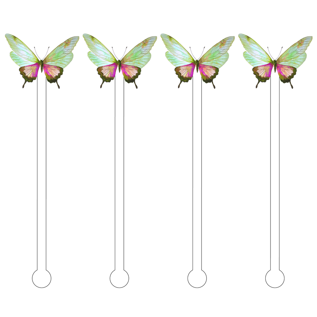 MADISON BUTTERFLY ACRYLIC STIR STICKS