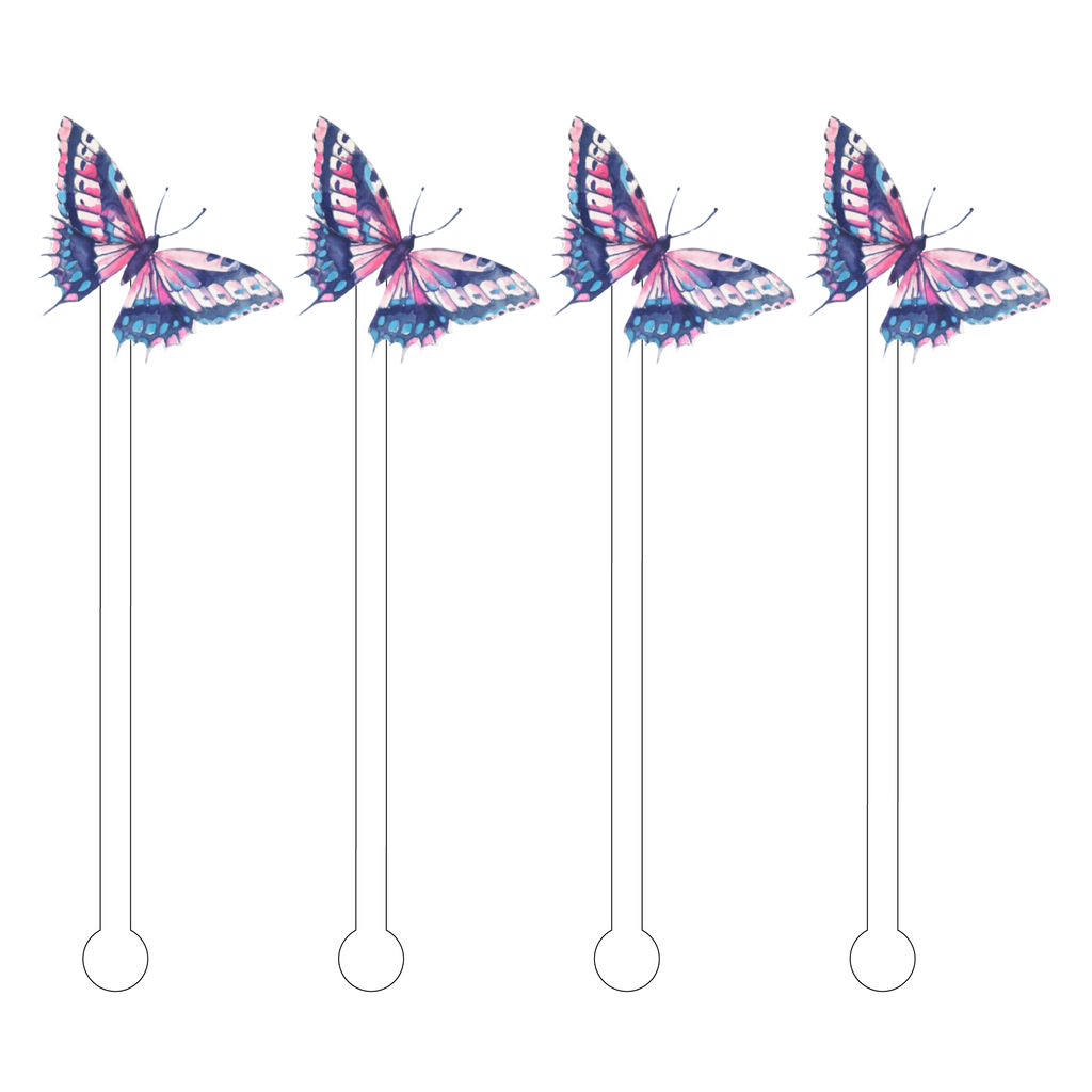 CHLOE BUTTERFLY ACRYLIC STIR STICKS