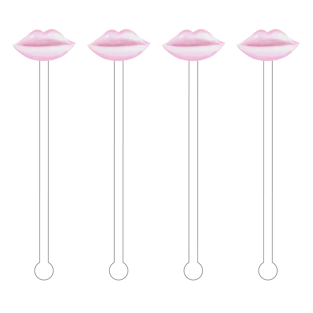 BLUSH LIPS ACRYLIC STIR STICKS