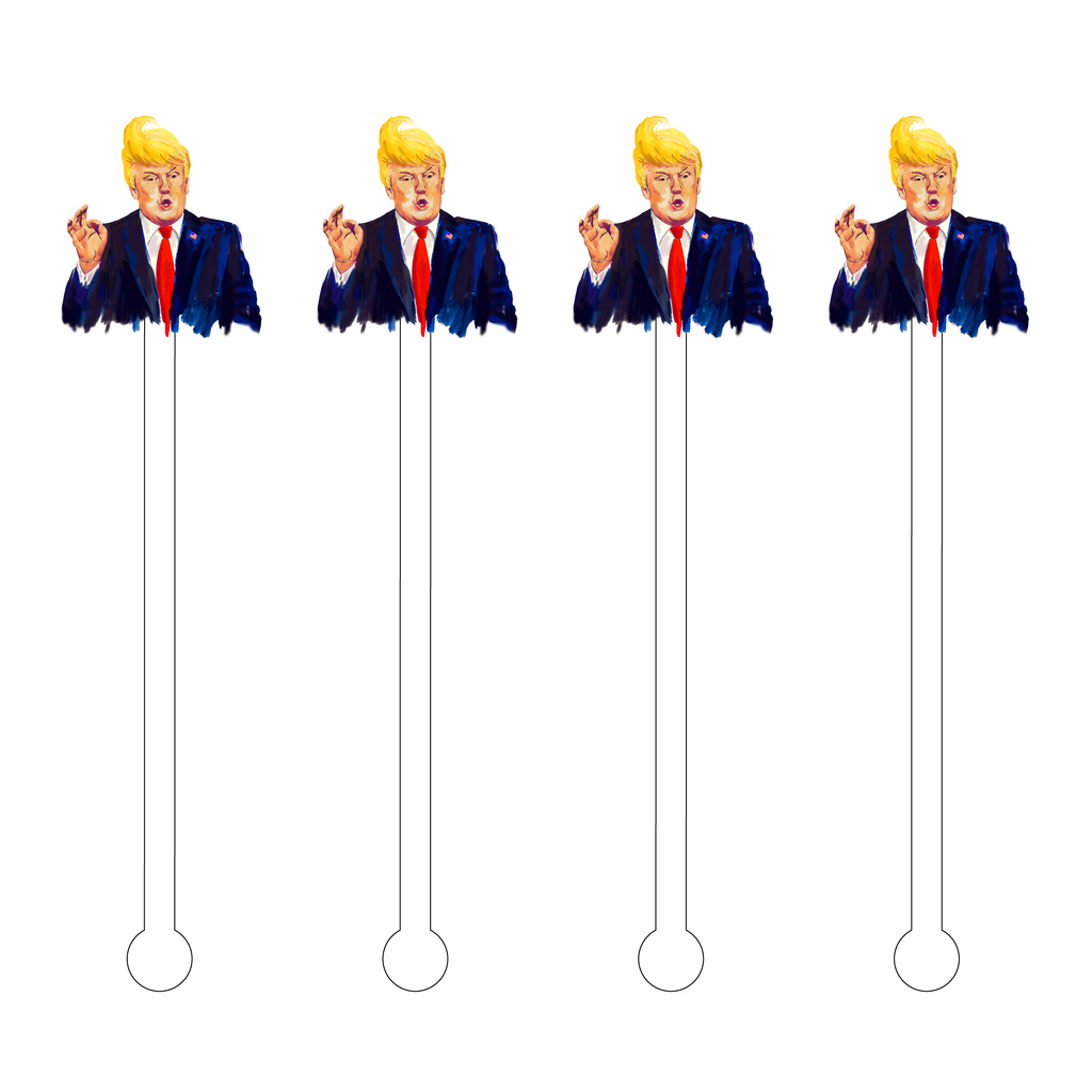 DONALD TRUMP ACRYLIC STIR STICKS