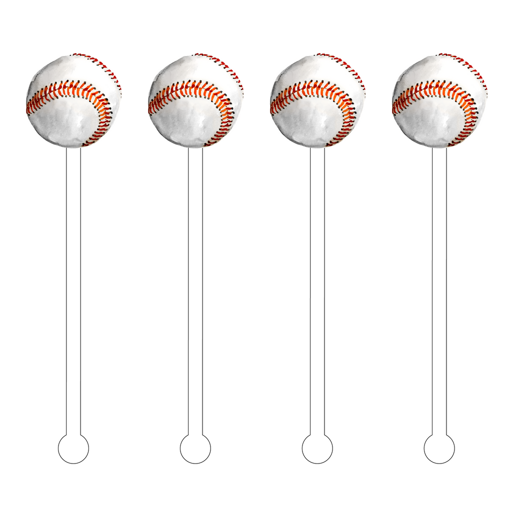 BASEBALL ACRYLIC STIR STICKS