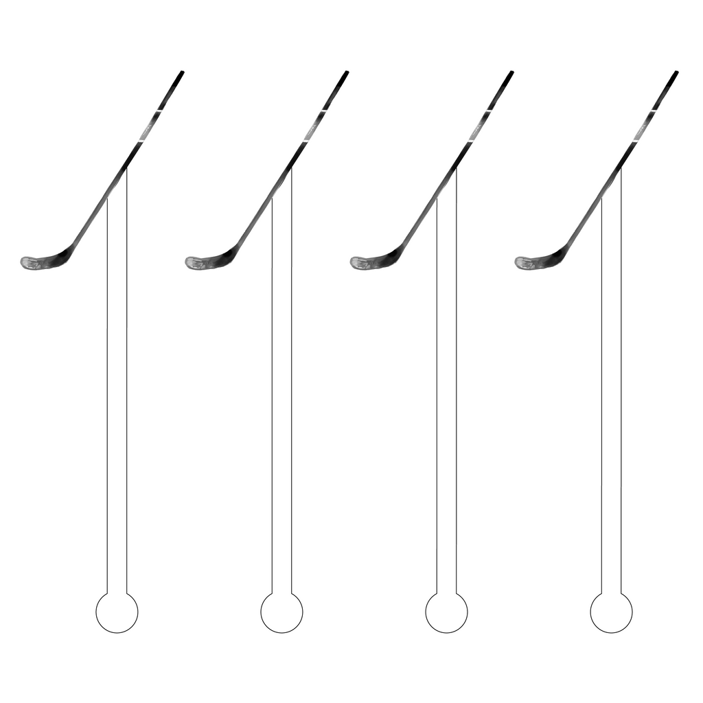 HOCKEY STICK ACRYLIC STIR STICKS