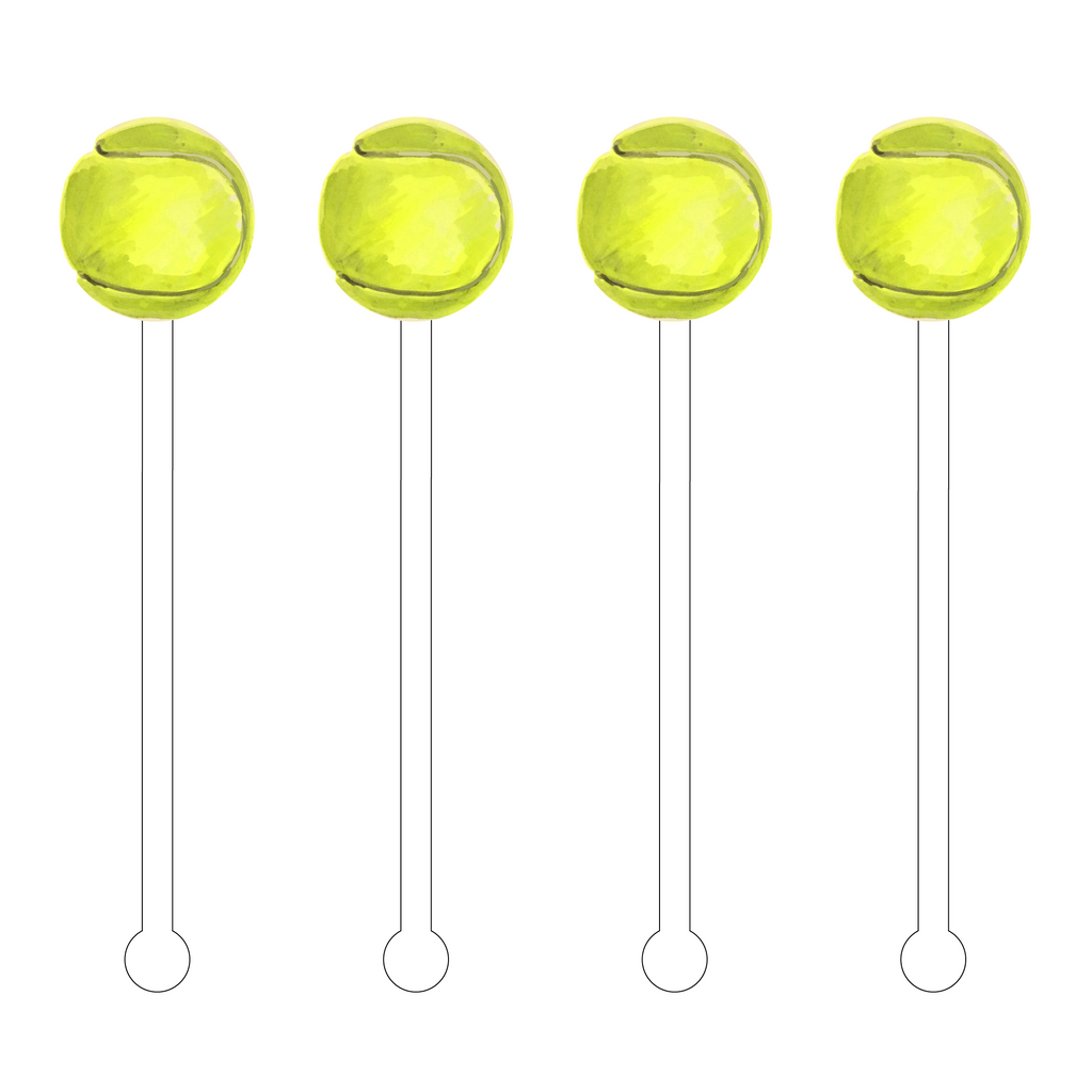 TENNIS BALL ACRYLIC STIR STICKS