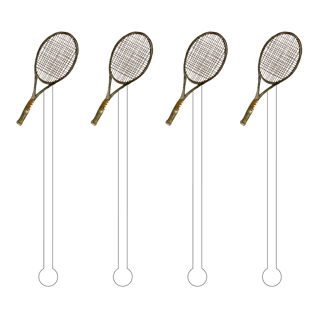 TENNIS RACQUET ACRYLIC STIR STICKS