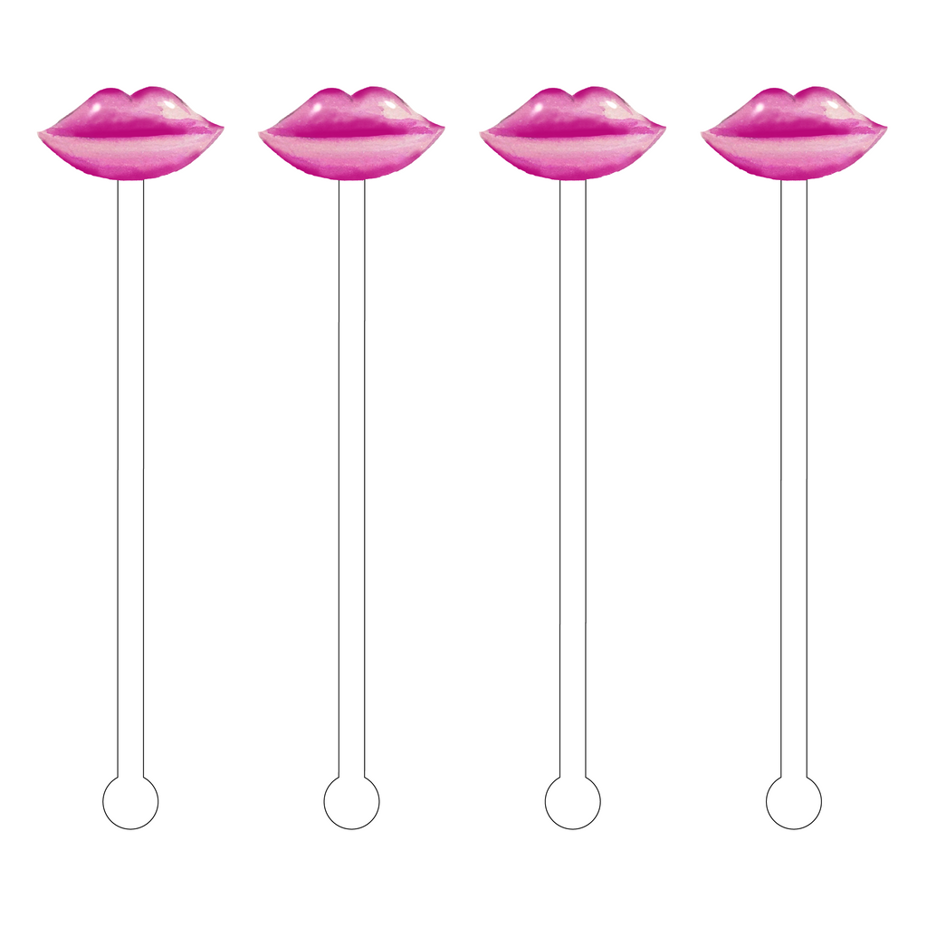 AUBERGINE LIPS ACRYLIC STIR STICKS