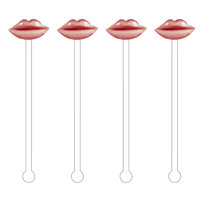 SUEDE PEARL LIPS ACRYLIC STIR STICKS