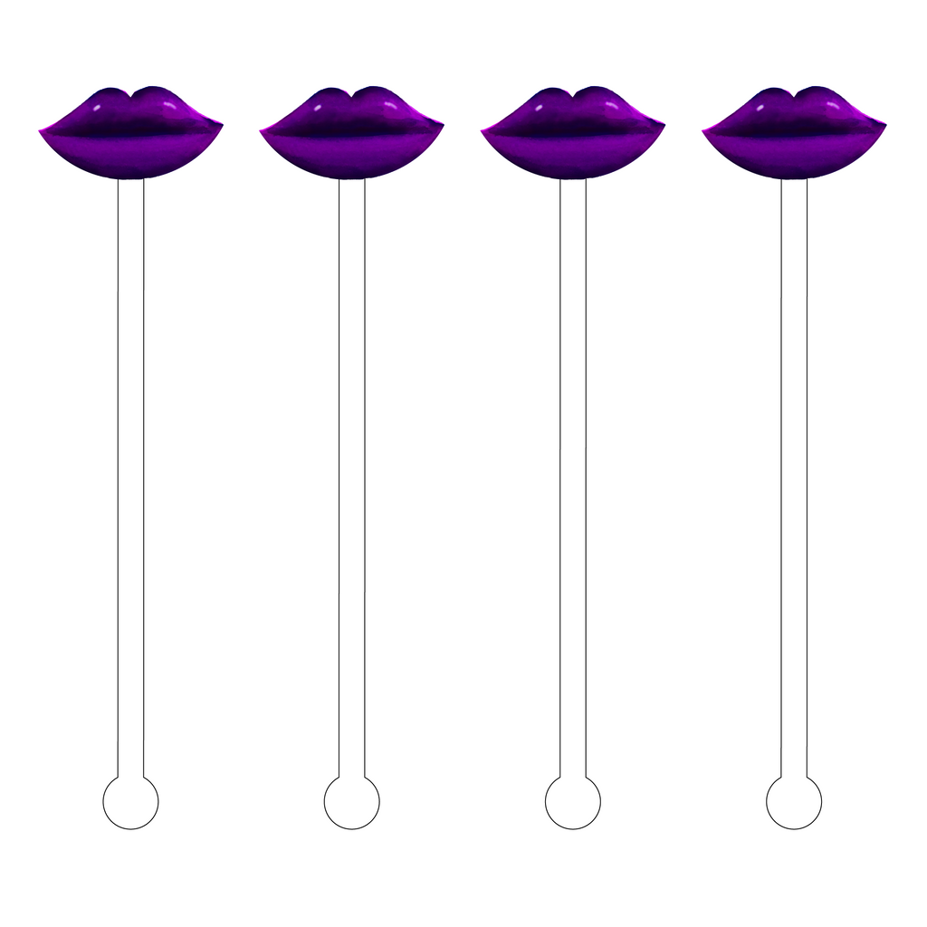 AMETHYST LIPS ACRYLIC STIR STICKS