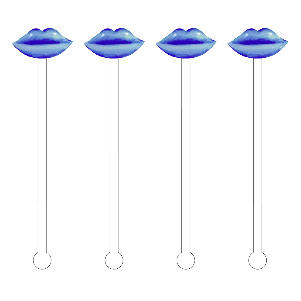 BLUE PEARL LIPS ACRYLIC STIR STICKS