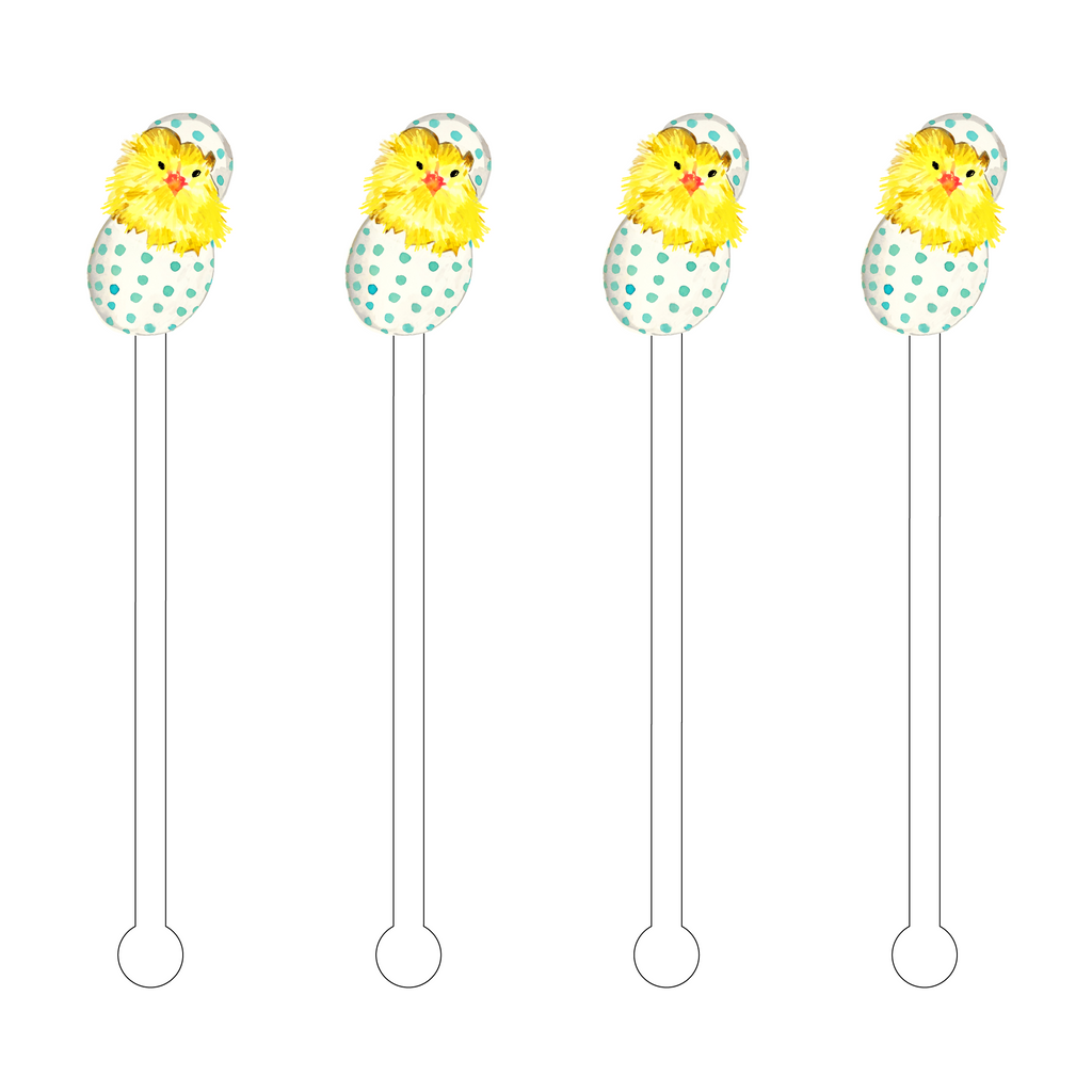 POLKA DOT CHICK ACRYLIC STIR STICKS