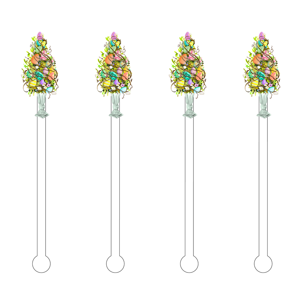 EASTER EGG TOPIARY ACRYLIC STIR STICKS