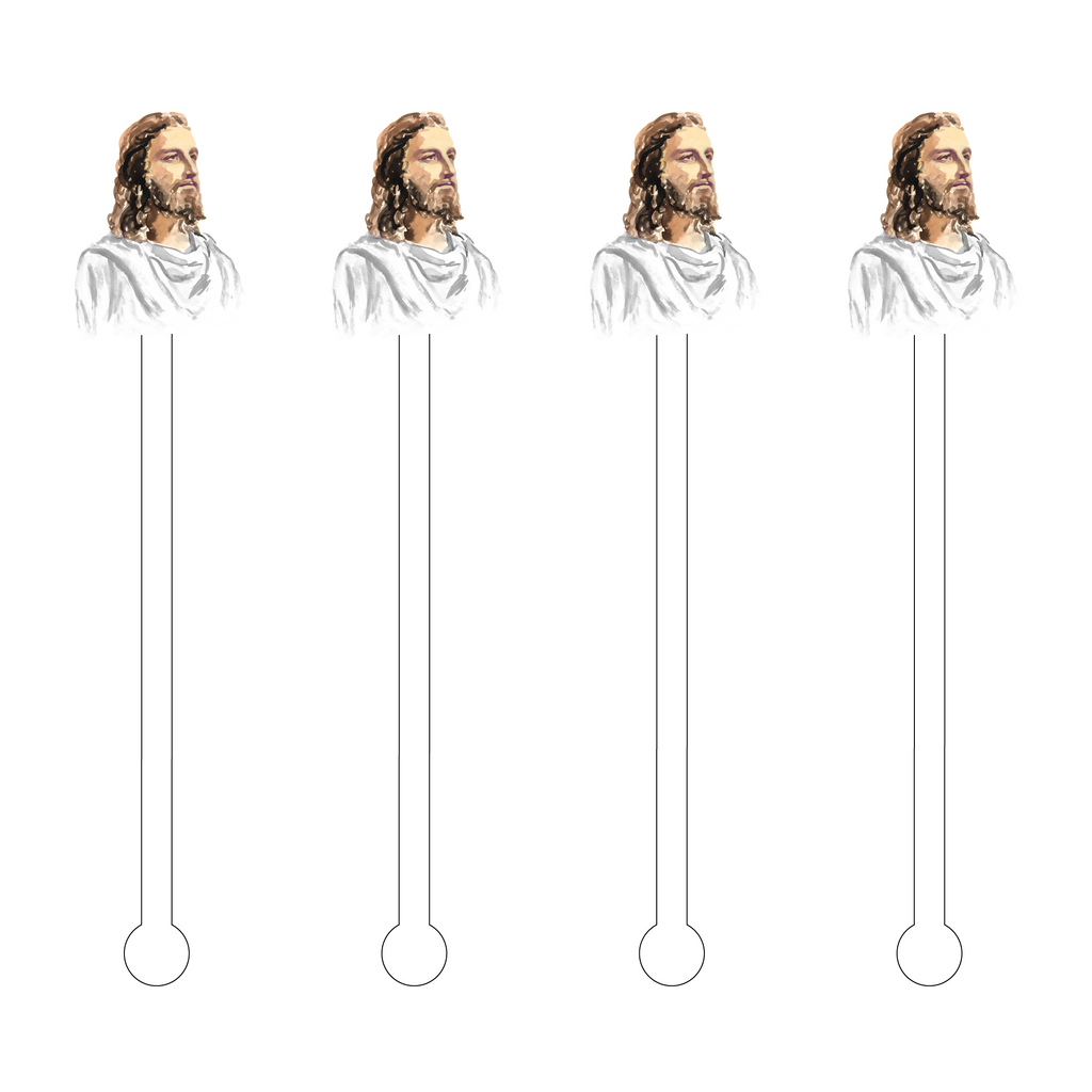 JESUS CHRIST ACRYLIC STIR STICKS
