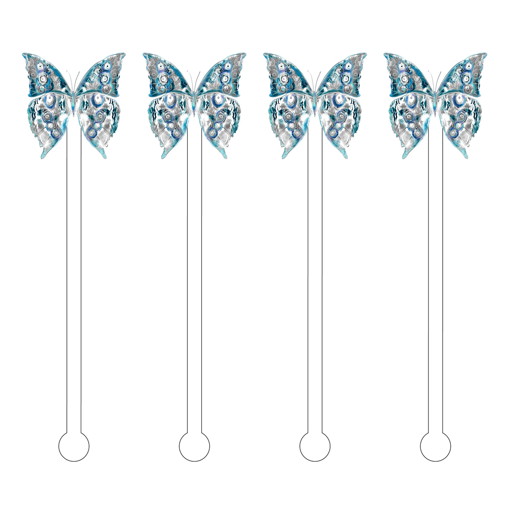 AVANT ICE BUTTERFLY ACRYLIC STIR STICKS