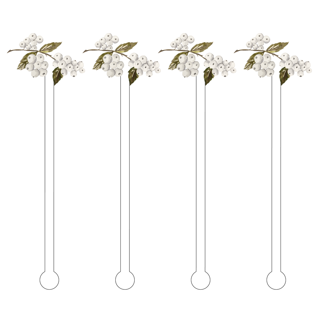 WINTERBERRIES ACRYLIC STIR STICKS