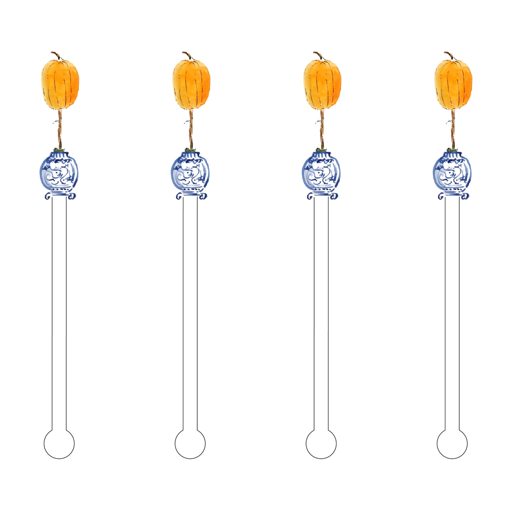 GIDDY GOURD TOPIARY ACRYLIC STIR STICKS