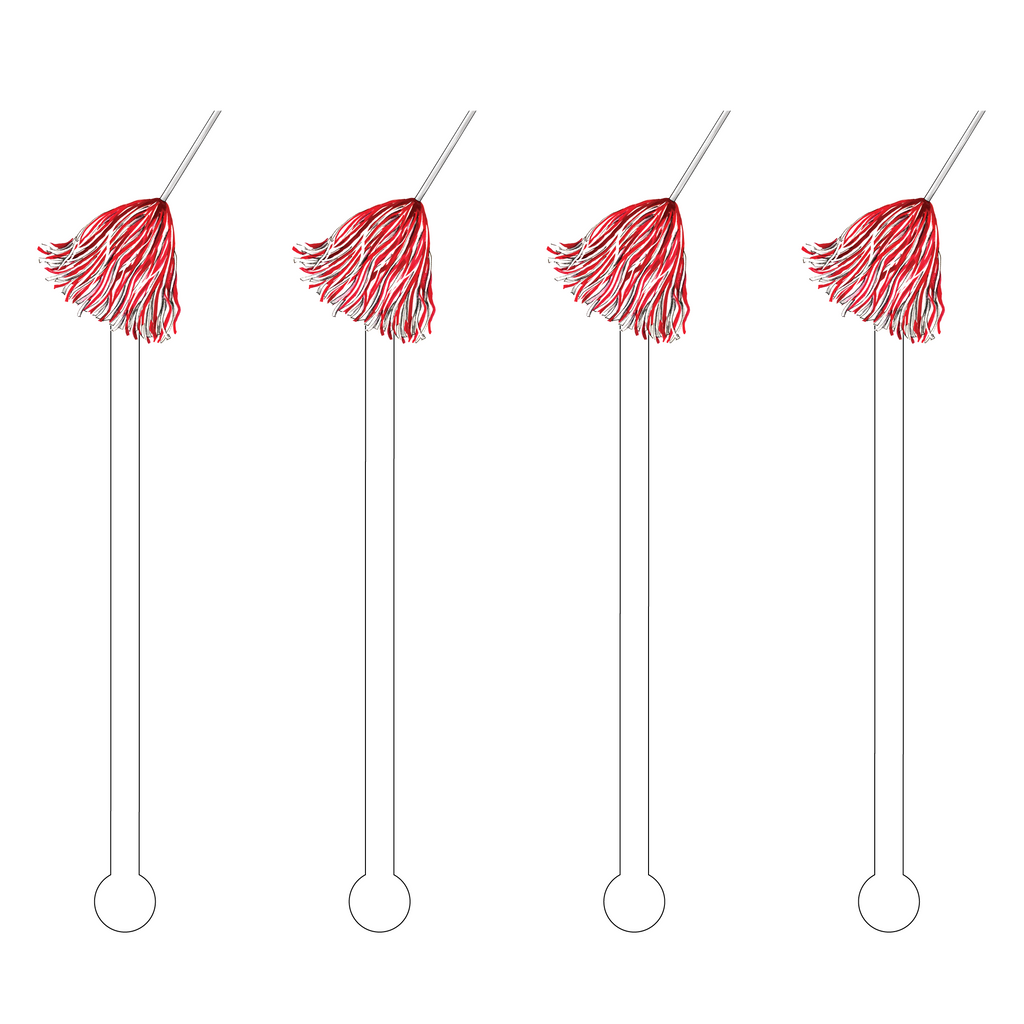POM POM ACRYLIC STIR STICKS