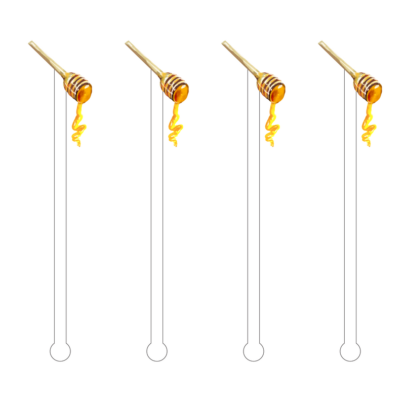 HONEY ROD ACRYLIC STIR STICKS