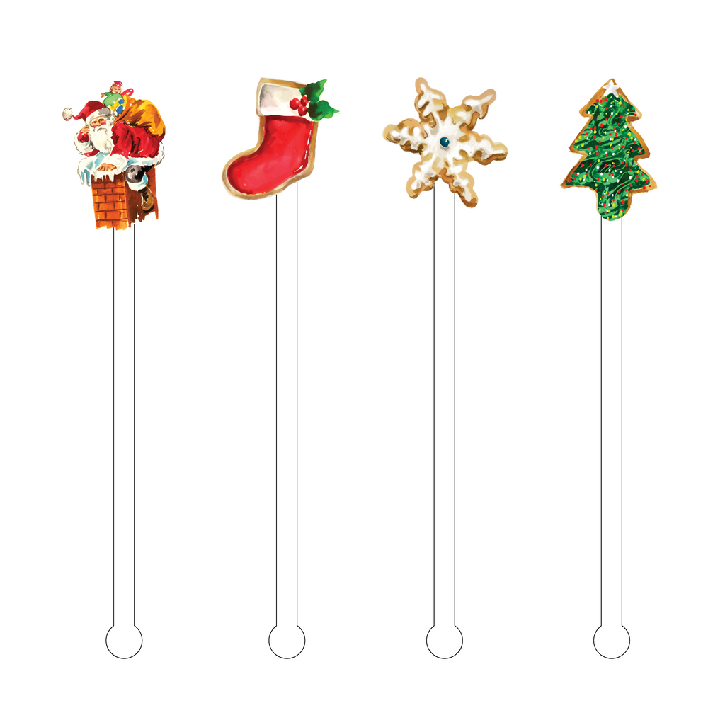 SANTA'S SUGAR COOKIES ACRYLIC STIR STICKS COMBO