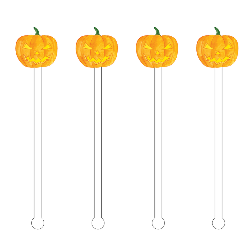 SCARY JACK O' LANTERN ACRYLIC STIR STICKS