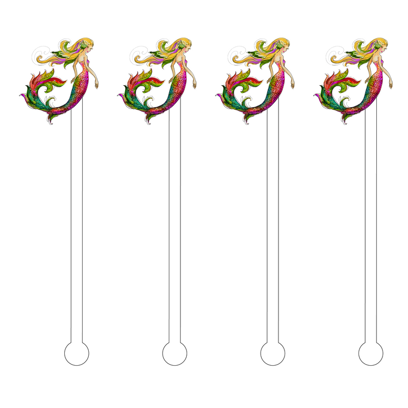 MERMAID ACRYLIC STIR STICKS
