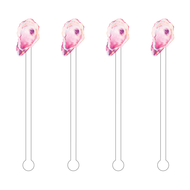 PINK OYSTER ACRYLIC STIR STICKS