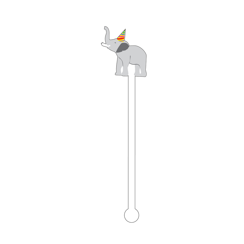 PARTY ELEPHANT ACRYLIC STIR STICK