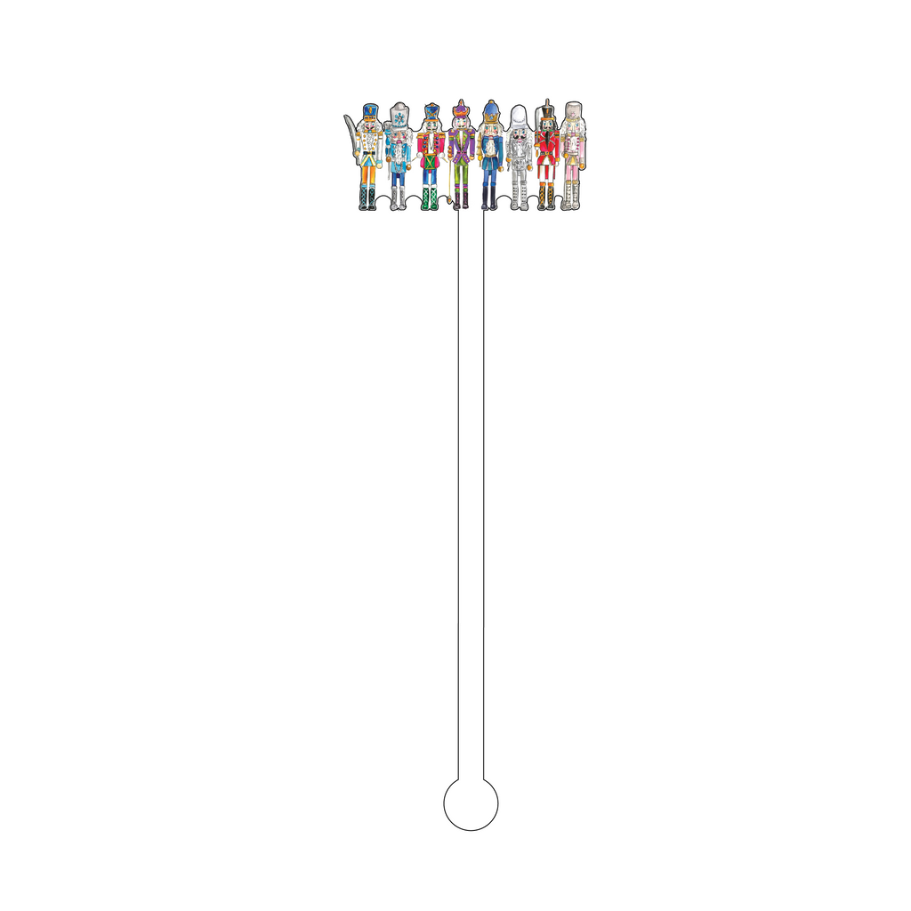 NUTCRACKER SQUAD ACRYLIC STIR STICK